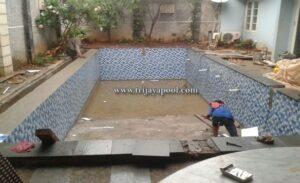 pembuatan kolam di komplek perumahan Kemang Pratama