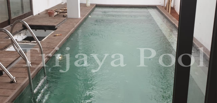 kolam renang klien di Bali yang dibuat oleh team trijaya pool