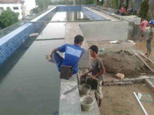 Pembuatan kolam renang oleh trijaya pool