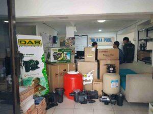 pompa dan filter yang dijual oleh trijaya pool