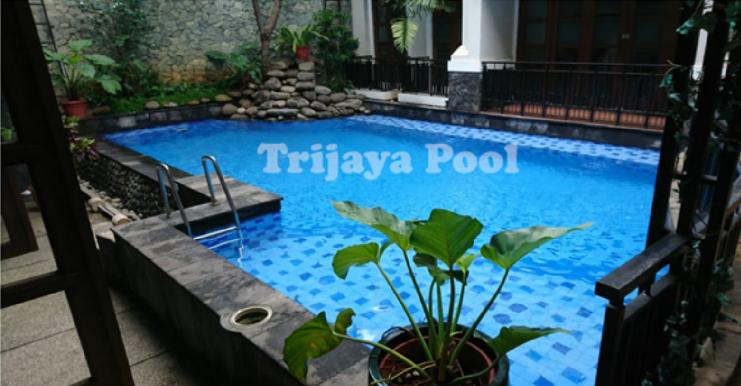 kolam renang minimalis yang dibuat oleh trijaya pool