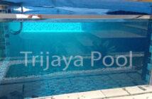 Kolam renang kaca yang dibuat oleh trijaya pool