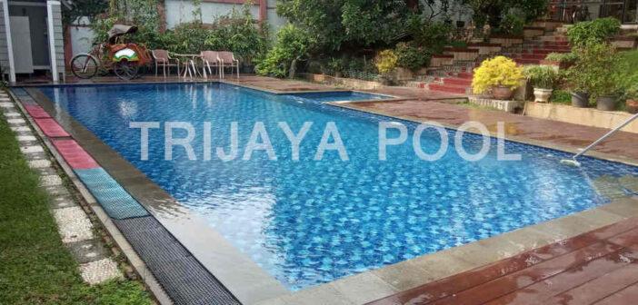 kolam renang yang dibuat oleh trijaya pool