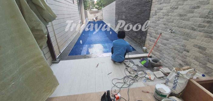 kolam dengan conwood yang dibuat oleh trijaya pool