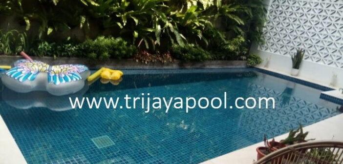 pembuatan kolam renang klien oleh trijaya pool