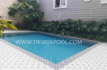 kolam renang klien yang dibuat oleh trijaya pool
