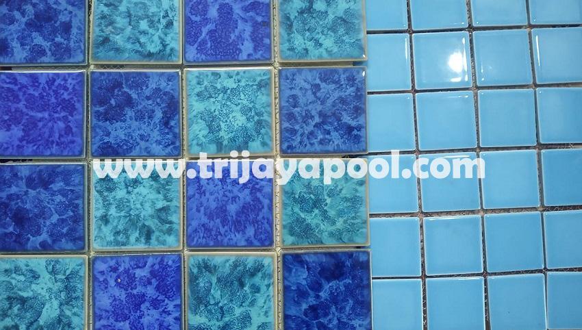 Rekomendasi keramik finishing untuk kolam renang by Trijaya Pool